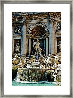 Framed Print featuring the photograph Trevi Fountain Vertical  by Harry Spitz