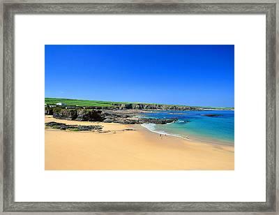 Trevone Bay Framed Print by Carl Whitfield