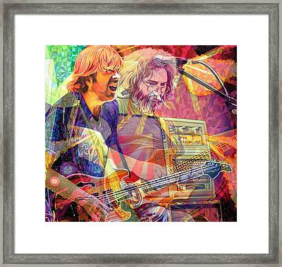 Trey Channeling Cosmic Jerry Framed Print by Joshua Morton