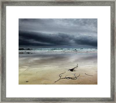 Treyarnon Bay,  Cornwall, Uk.. Framed Print