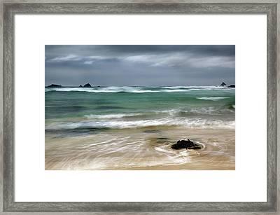 Treyarnon Bay,  Cornwall, Uk, 2 Framed Print by Maggie McCall