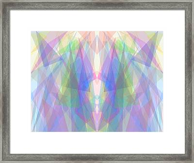 Tri-angles Framed Print