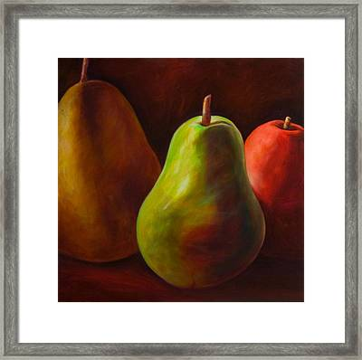 Tri Pear Framed Print