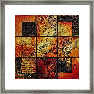 Trial By Fire Framed Print by Cindy Johnston