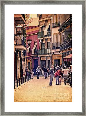 Framed Print featuring the photograph Triana On A Sunday Afternoon 2 by Mary Machare
