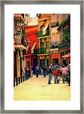 Framed Print featuring the photograph Triana On A Sunday Afternoon 3 by Mary Machare