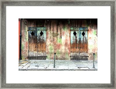 Triangle Doors At Preservation Hall Framed Print