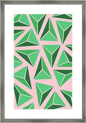 Triangle Geo Framed Print