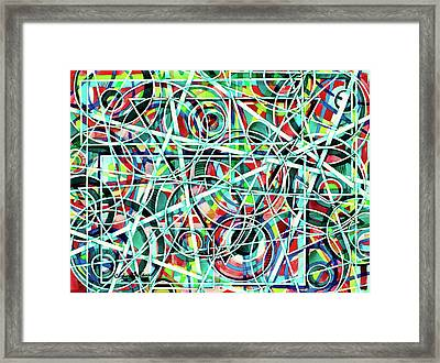 Triangle Interlacing Framed Print