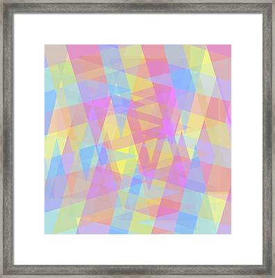 Triangle Jumble 2 Framed Print