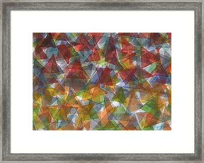 Triangle Jungle Framed Print