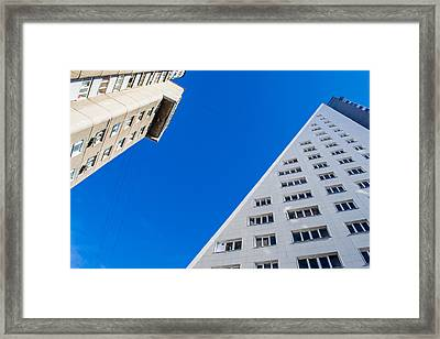 Framed Print featuring the photograph Triangle Modern Building by John Williams