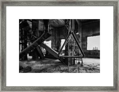 Triangle Of Webs Framed Print