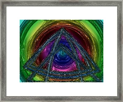 Triangle Framed Print by Patrick Guidato