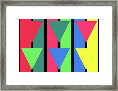 Triangle Stripe - Winter Framed Print