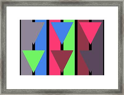 Triangle Stripe- Zentao Framed Print
