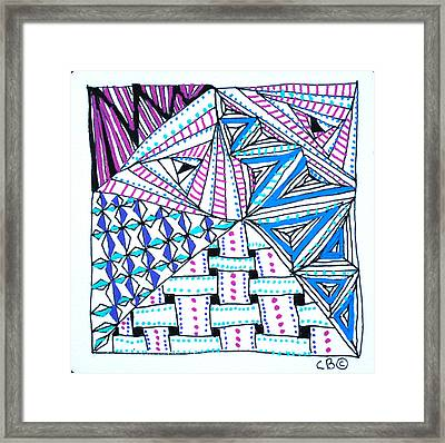 Triangle Tangle Framed Print by Carole Brecht