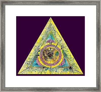 Triangle Triptych 2 Framed Print by Tom Hefko