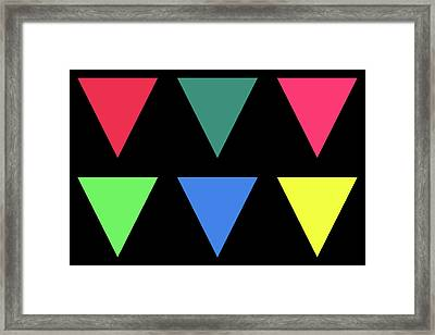 Triangle - Winter Framed Print