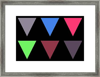 Triangle - Zentao Framed Print
