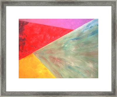 Triangles Framed Print by Guillermo Mason