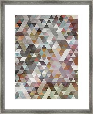 Triangles Pastel Framed Print by Francisco Valle