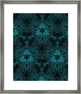 Triangular Dendrites Framed Print by Ian Hunter