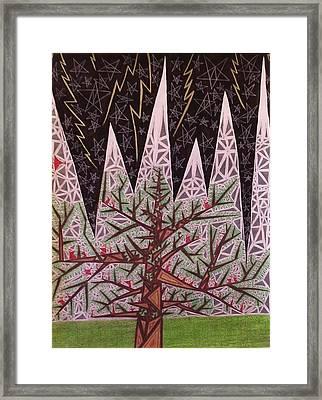 Triangular Drawing Framed Print