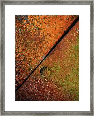 Triangular ...raw Steel Framed Print by Tom Druin