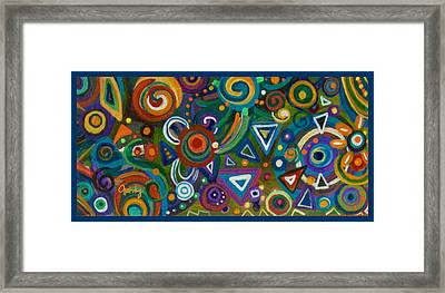 Triangulation Framed Print by Paintings by Gretzky