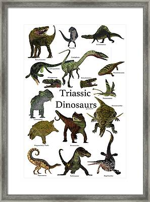 Triassic Dinosaurs Framed Print by Corey Ford