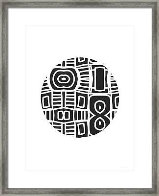 Tribal Ball- Art By Linda Woods Framed Print by Linda Woods