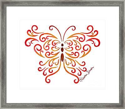 Tribal Butterfly Framed Print