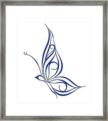 Tribal Butterfly Framed Print by Tina Barnash