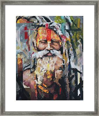 Tribal Chief Sadhu Framed Print by Richard Day