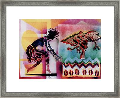 Tribal Dancer Framed Print