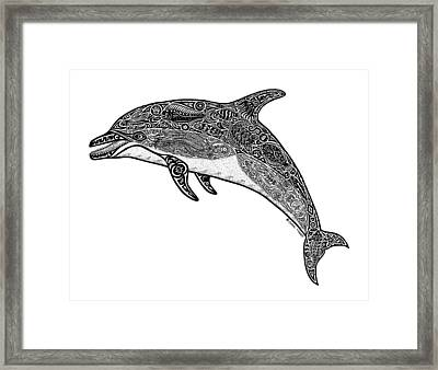 Tribal Dolphin Framed Print by Carol Lynne