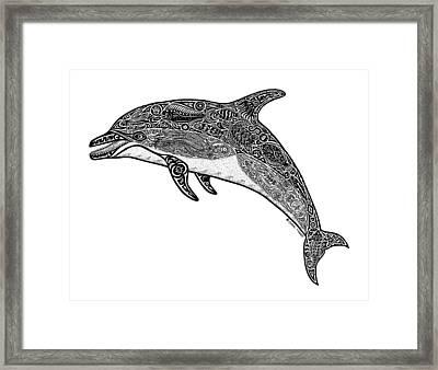 Tribal Dolphin Framed Print by Carol Lynne