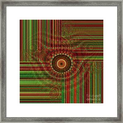 Tribal Drape Framed Print