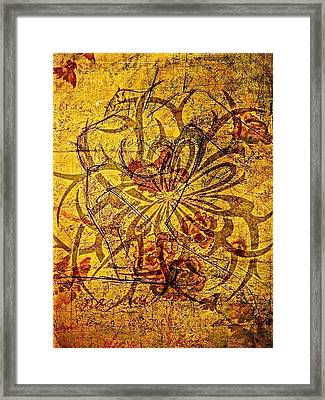 Tribal Flower Framed Print by Paulo Zerbato