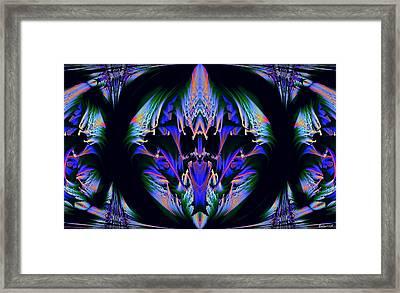 Tribal Fractal Framed Print by Evelyn Patrick