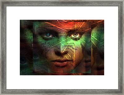 Framed Print featuring the digital art Tribal Future by Shadowlea Is