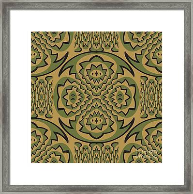 Tribal Geometric Pattern Framed Print