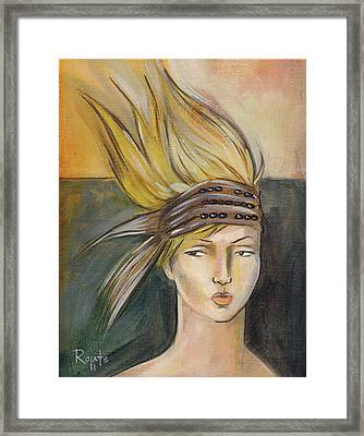 Tribal Framed Print by Jacque Hudson