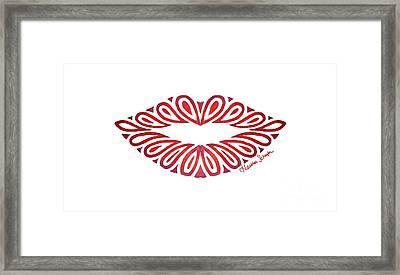 Tribal Lips Framed Print