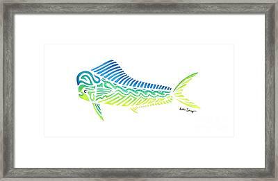 Tribal Mahi Mahi Framed Print