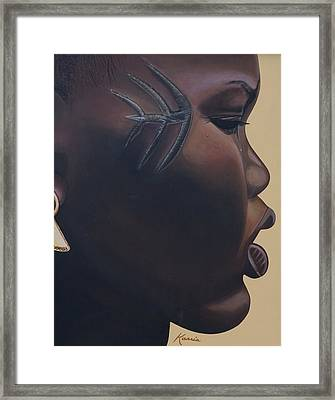 Tribal Mark Framed Print by Kaaria Mucherera