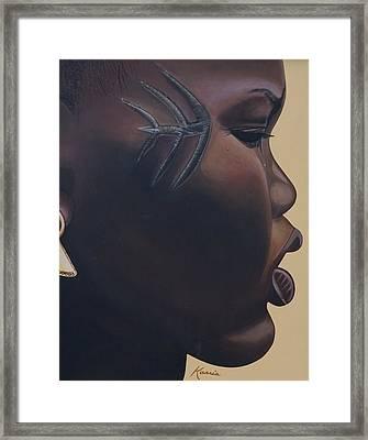 Tribal Mark Framed Print