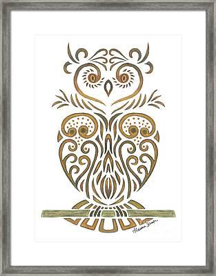 Tribal Owl Framed Print