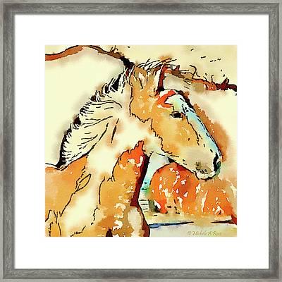 Tribal Pony Framed Print by Michele Ross